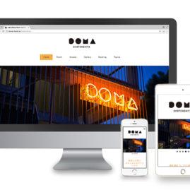 ゲストハウス DOMA / Webdesign / 2018